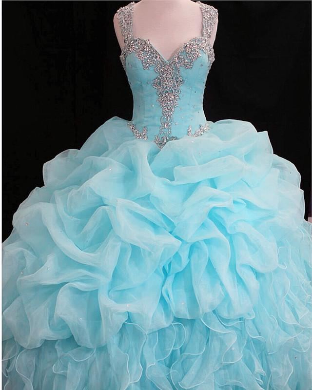 sky blue quinceanera dresses