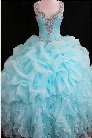 Image of sky blue ballgown
