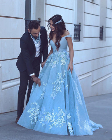 Image of light-blue-prom-dresses