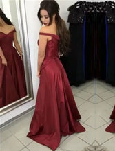 Load image into Gallery viewer, Burgundy-Prom-Gowns