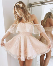 Load image into Gallery viewer, baby-pink-homecoming-dresses
