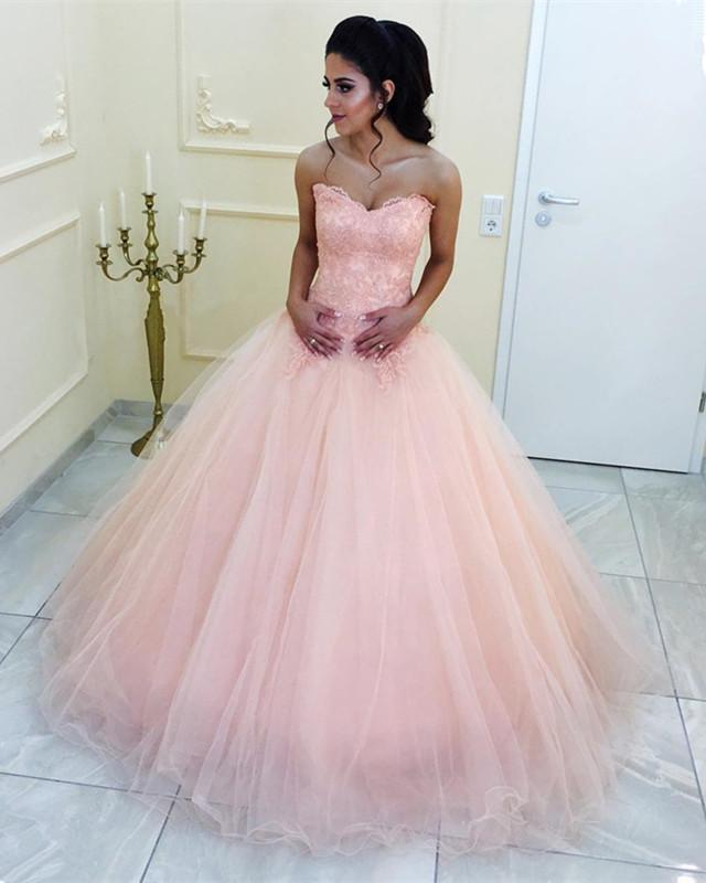 Peach-Quinceanera-Dresses