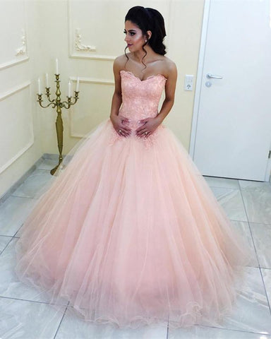 Image of Peach-Quinceanera-Dresses