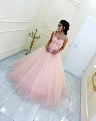 Image of Peach-Wedding-Dresses