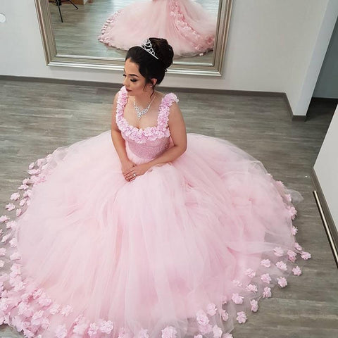 Image of Pink-Ball-Gowns-Wedding-Dresses