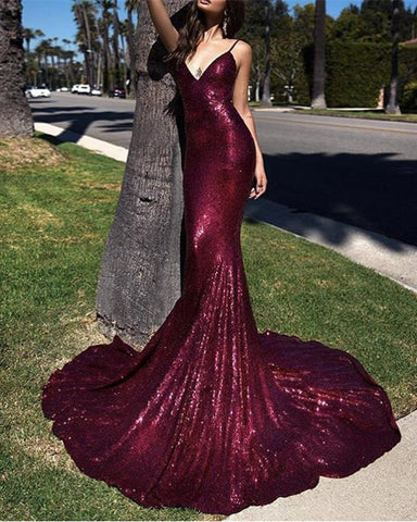 Image of Long-Open-Back-Evening-Dresses-Mermaid-Prom-Dresses-Sexy