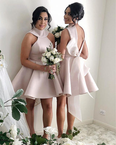 Image of Short-Mini-Ball-Gown-Party-Dresses-For-Bridesmaids