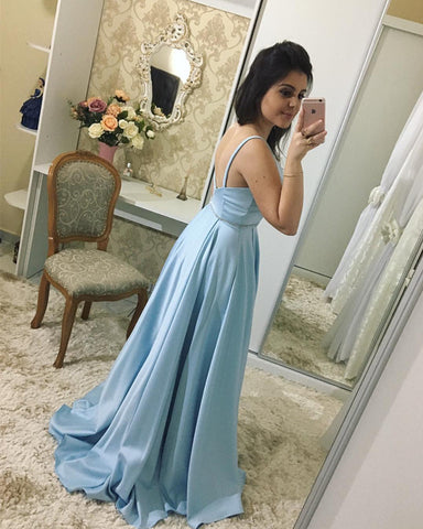 Image of Light-Blue-Evening-Gowns