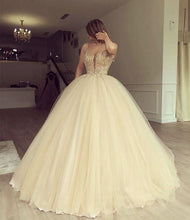 Load image into Gallery viewer, Luxurious Beaded Sweetheart Tulle Ball Gowns Prom Dresses