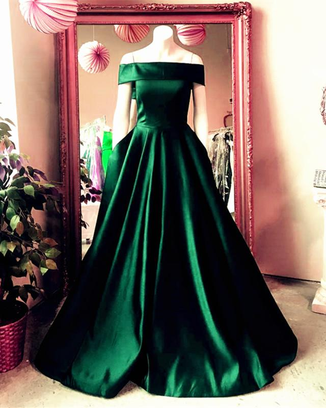 Emerald-Green-Prom-Dresses-Satin-Ball-Gowns-Dress-For-Weddings