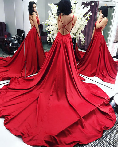 Image of Red-Long-Prom-Dresses