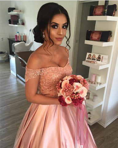 Image of Blush-Pink-Wedding-Dresses-Ball-Gowns-For-Wedding-Photography