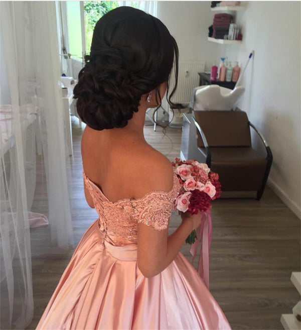 Off-Shoulder-Quinceanera-Dresses-Pink-Ballgowns-For-Sweet-16