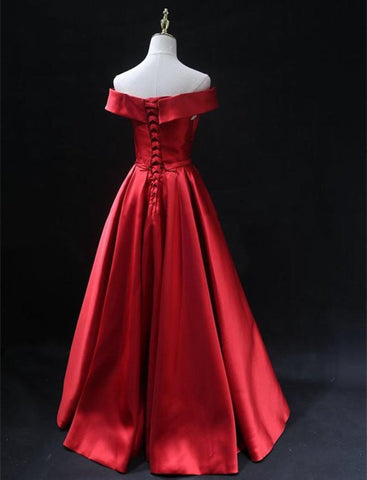 Image of Long-Formal-Gowns-Red-Formal-Prom-Party-Dresses