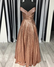 Afbeelding in Gallery-weergave laden, Sequins-Prom-Dresses