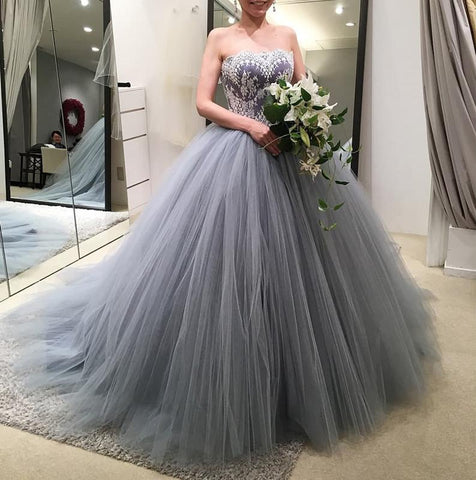 Image of Gray-Wedding-Dresses