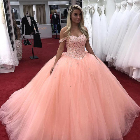 Image of Coral-Quinceanera-Dress