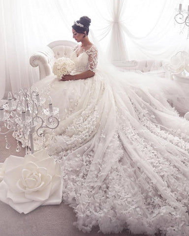 Image of Wedding-Dresses-With Sleeves