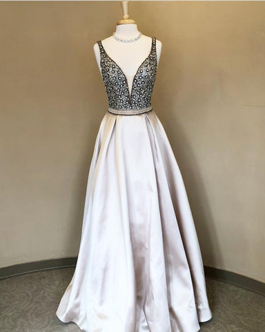 Image of Silver-Prom-Dresses