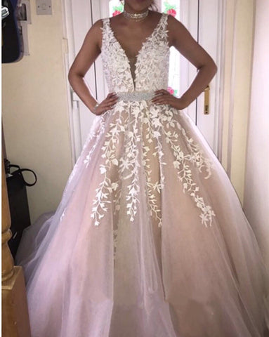 Image of Champagne-Quinceanera-Dresses