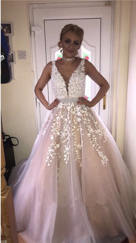 Image of Champagne-Wedding-Dress
