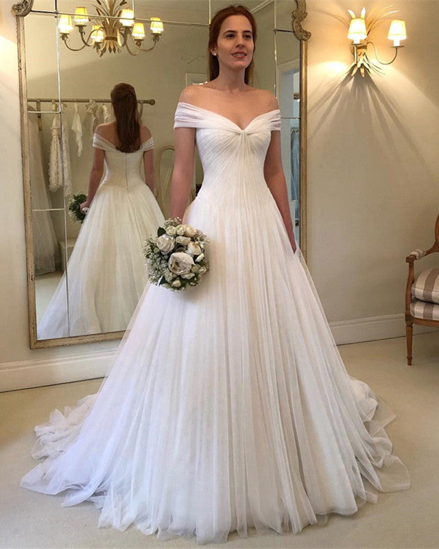 Off-The-Shoulder-Tulle-Wedding-Gowns-2019-Sexy-Bridal-Gowns