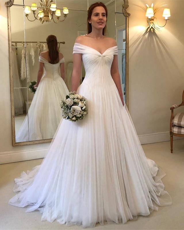 Romantic-A-line-Tulle-Wedding-Gowns-Floor-Length-2019