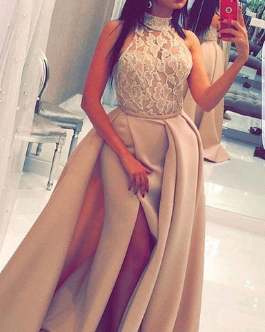 Image of Champagne-Prom-Gowns