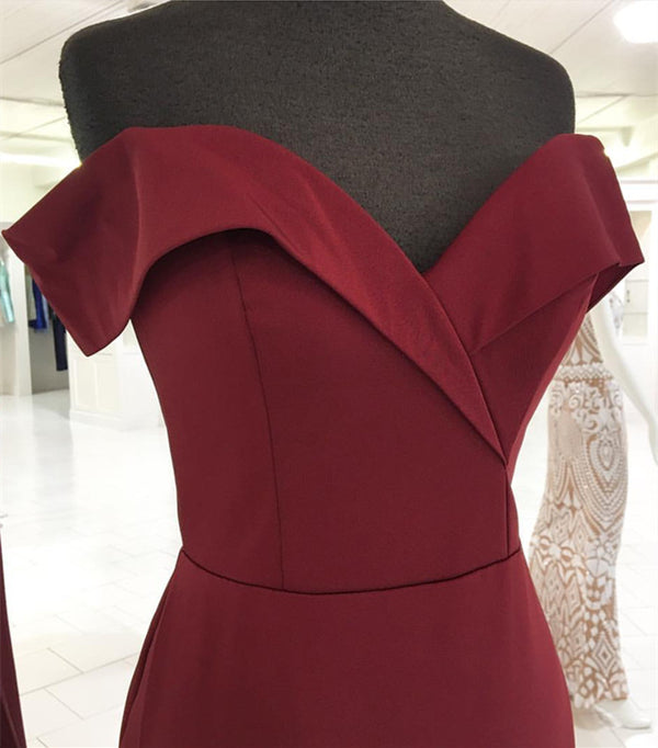 Burgundy-Evening-Gowns