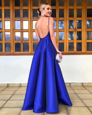 Image of Open-Back-Evening-Gowns-Long-Prom-Dresses-Royal-Blue