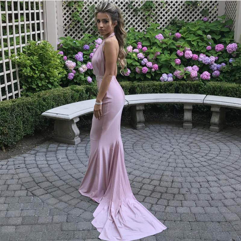 32177754139 Sexy Backless Long Jersey Mermaid Bridesmaid Dresses For Weddings. Double  tap to zoom