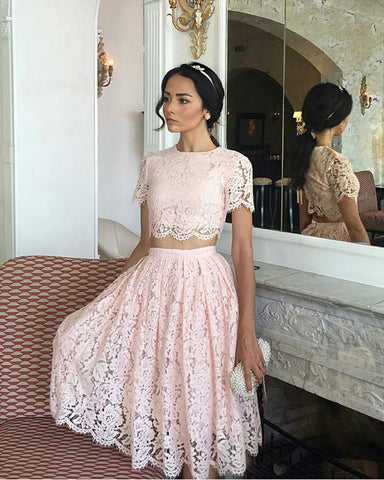 Image of Lace-Prom-Dresses-Short