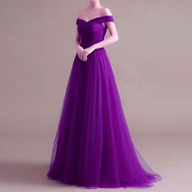 purple evening dresses