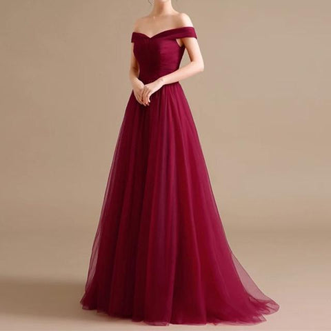 Image of maroon bridesmaid dresses