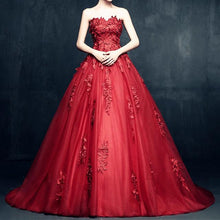 Load image into Gallery viewer, Elegant Floral Lace Sweetheart Tulle Ball Gown Dresses