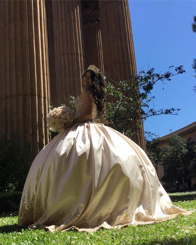 Image of Gold-Ball-Gowns-Dresses