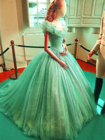 Image of Cinderella Ball Gown Quinceanera Dresses For Sweet 16 Party