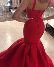 Load image into Gallery viewer, Spaghetti Straps Sweetheart Mermaid Prom Dresses 2020