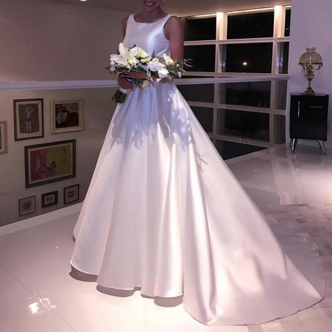Image of Satin-Wedding-Dresses