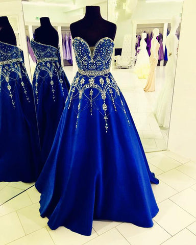 Image of Royal-Blue-Ball-Gown-Dresses