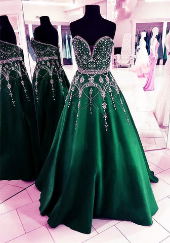 Image of Emerald-Green-Ball-Gown-Prom-Dresses