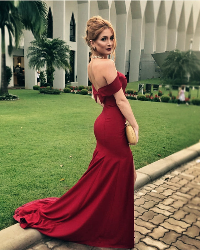 Maroon-Evening-Dress