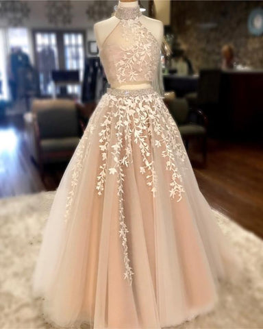 Image of Champagne-Quinceanera-Dress