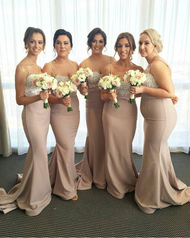 Image of Mermaid-Bridesmaid-Gowns