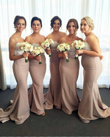 Image of Nude Bridesmaid Dresses