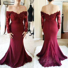 Load image into Gallery viewer, Long-Sleeves-Bridesmaid-Dresses