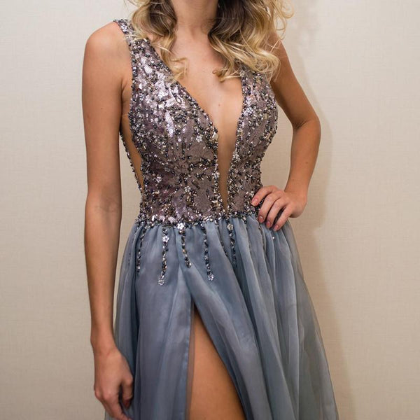 Sequin Beaded Evening Gowns