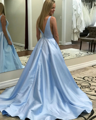 Image of Sky Blue Prom Dresses