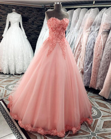 Image of Quinceanera-Dresses-Coral