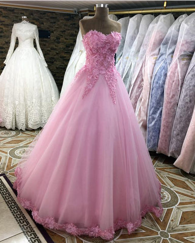 Image of Quinceanera-Dresses-Pink